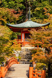 Autumn at daigoji temple with colorful Royalty Free Stock Image