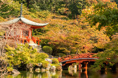 Autumn at daigoji temple with colorful Stock Photography