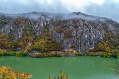 Autumn at the Danube Gorges. The border between Romania and Serbia. View from Serbian part Stock Images