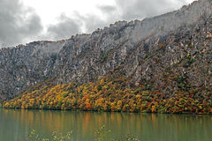 Autumn at the Danube Gorges Royalty Free Stock Images