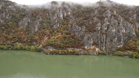 Autumn at the Danube Gorges stock video