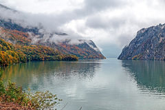 Autumn at the Danube Gorges Stock Images