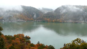 Autumn at the Danube Gorges. 4K footage stock footage