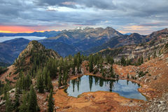 Autumn dawn glow in the Wasatch Mountains. Royalty Free Stock Image