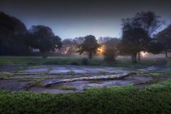 Autumn dawn at Ravenhill Park Royalty Free Stock Image