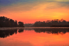 Autumn dawn on the river Royalty Free Stock Photography