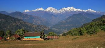 Autumn day in the Annapurna Conservation Area, Nepal Royalty Free Stock Images