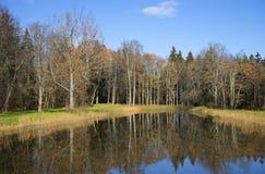 Autumn day on the Big pond. Trigorskoye, Pushkinskiye Gory Stock Images