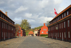 Autumn day in the fortress Kastellet. Copenhagen Stock Photos