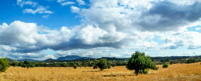 Autumn day in Greece. Beautiful autumn day in Greece with clouds adding a touch on the photo Royalty Free Stock Photo
