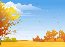 Autumn day. Illustration of a fall season day Royalty Free Stock Photography