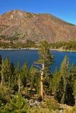 autumn day lake pass serene tioga warm стоковое изображение rf