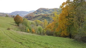 Autumn day in the mountains. Nature Stock Photo