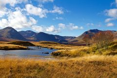 Autumn Day Near Loch Ba stock photo