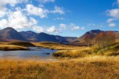 Autumn Day Near Loch Ba arkivfoto