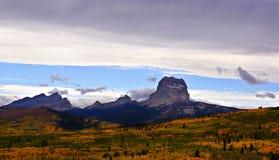 Autumn Day på det högsta berget Arkivfoto