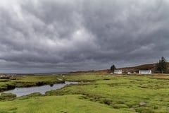 Rainy Autumn day in Scottish Highlands stock photos