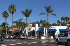 In autumn day on the Streets of Carlsbad city Royalty Free Stock Photo
