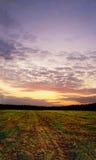 Autumn daybreak. Time. Vertical landscape stock images