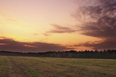 Autumn daybreak. In field and forest royalty free stock photos