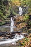Autumn at Deckertown Falls Royalty Free Stock Photo