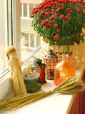 Autumn decoration of balcony Royalty Free Stock Photo