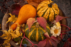 Autumn decoration for table Stock Photo