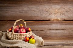 Autumnal background before wooden board Royalty Free Stock Photos