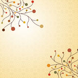 Autumn decorative background. Autumn themed decorative background design Stock Images