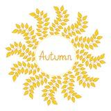 Autumn decorative frame,  illustration. Autumn decorative background,  illustration Stock Images