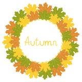 Autumn decorative frame,  illustration. Bright autumn decorative frame, illustration Royalty Free Stock Images