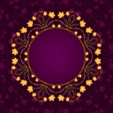 Autumn Decorative Frame Ilustración del vector con la transparencia y el acoplamiento EPS10 Imagen de archivo