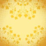 Autumn Decorative Frame Ilustración del vector con la transparencia y el acoplamiento EPS10 Fotografía de archivo