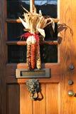 autumn dekoracji drzwi Zdjęcia Royalty Free
