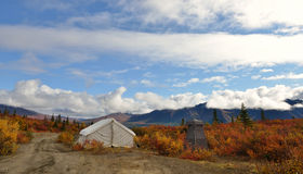 Autumn on Denali Hwy, Alaska Royalty Free Stock Photography