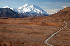 Autumn in Denali & road to  Mount McKinley Royalty Free Stock Photo