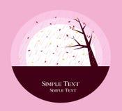 Autumn design. A illustration of Autumn design simple text background Stock Image