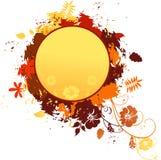 Autumn design. Grungy autumn design in yellow and orange Royalty Free Stock Photo