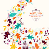 Autumn Design with Autumnal Leaves Royalty Free Stock Photo