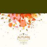 Autumn Design avec les feuilles automnales Illustration Stock