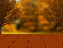 Autumn design with brown wood planks. stock illustration