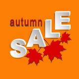 Autumn sale banner Stock Image