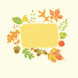 Autumn design element with place for text Stock Photography