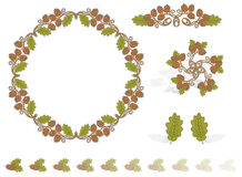 Autumn Design Elements Acorns. Vector art in Illustrator 8. All objects are complete images and can be separated and/or rearranged Royalty Free Stock Photos