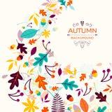 Autumn Design mit herbstlichen Blättern vektor abbildung