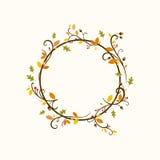 Autumn Design ornemental avec des feuilles Image libre de droits
