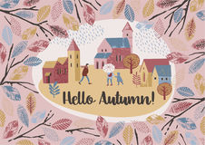 Autumn design. Vector  . Royalty Free Stock Images