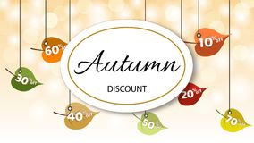 Autumn Discount Banner illustration de vecteur