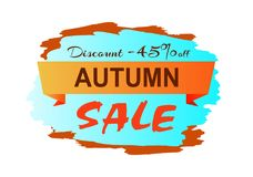 Autumn Discount Clearance Vector Illustration Photo stock