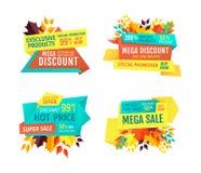 Autumn Discount mega con el sistema caliente de los emblemas del precio stock de ilustración